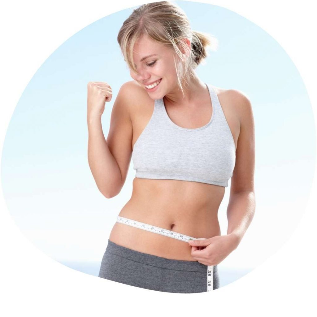 WEIGHT LOSS PROGRAMS - Happy woman lost weight