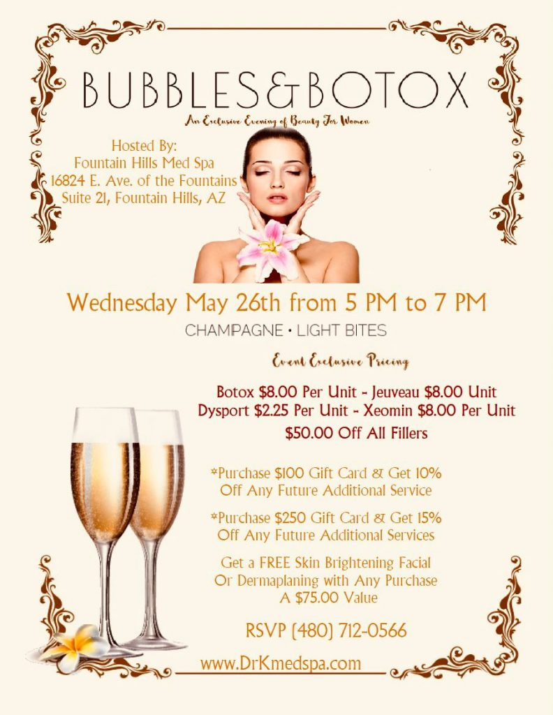 bubbles and botox event - Dr. K MedSpa - Dr. Kaveh Karandish